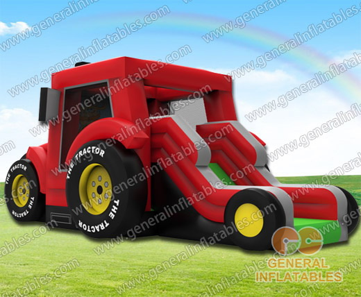 GB-399 Tractor bounce house combo
