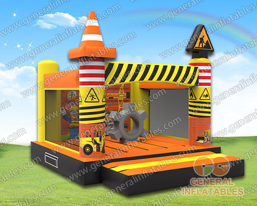 GB-407 Construction site bounce house