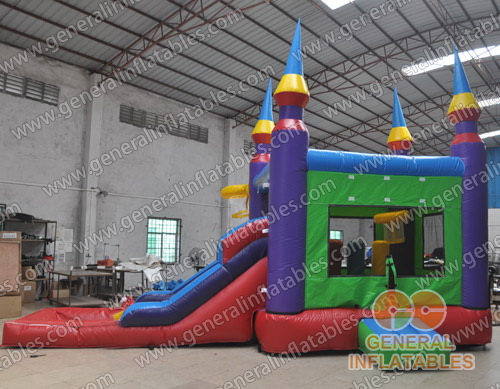 GC-129 Castle slide combo with pool