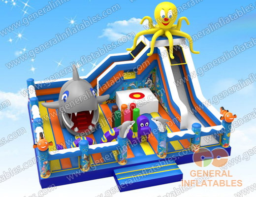 GF-130 Under the sea playgroud with moving shark