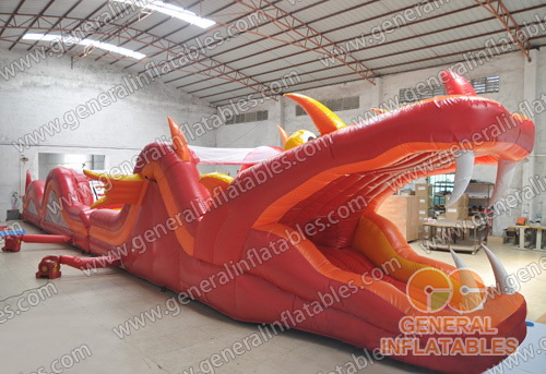 GO-105 Inflatable fire dragon obstacle
