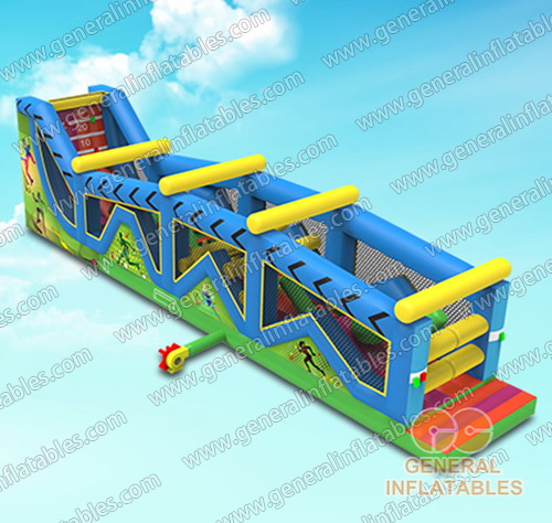 GO-162 Inflatable ninja warrior obstacle course