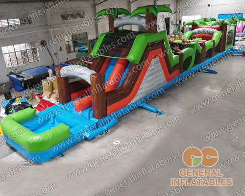 GO-199 Palm trees mutilple function obstacle with detachable pool