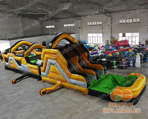 GO-200 Lava water obstacle course with detachable pool