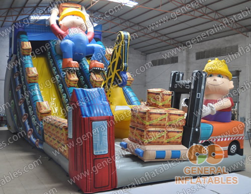 GS-188 Bob the builder inflatable slide