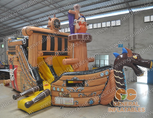 GS-77 Pirate ship inflatable slide