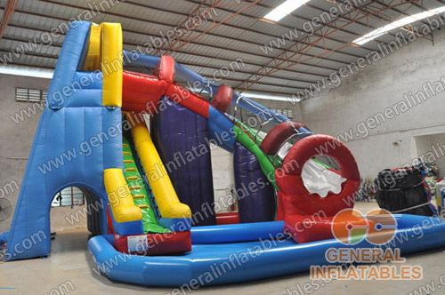 GWS-100 Twister water slide with pool