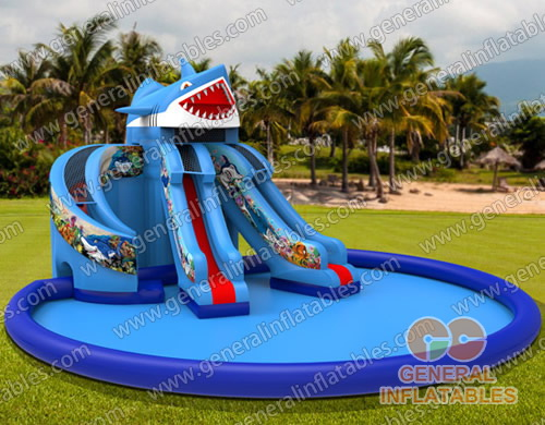 GWS-133 Sea Water slide with giant pool