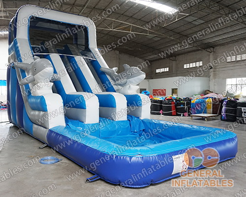 GWS-46 big inflatable water slides