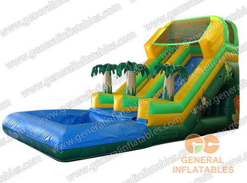 GWS-61 Tropical Dual Lane Water Slide