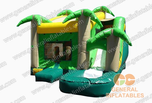 GWS-68 Jungle Water Slide House Combo