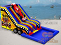 GWS-143 Racecar water slide with sealed pool