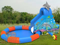 GWS-156 Dolphin water slide with pool