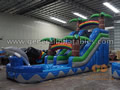 GWS-224 inflatable jungle water slide